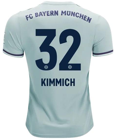 1e7d3f78870 Kimmich  32 Bayern Munich Away Jersey Men 2018 2019 Shirt Soccer on ...