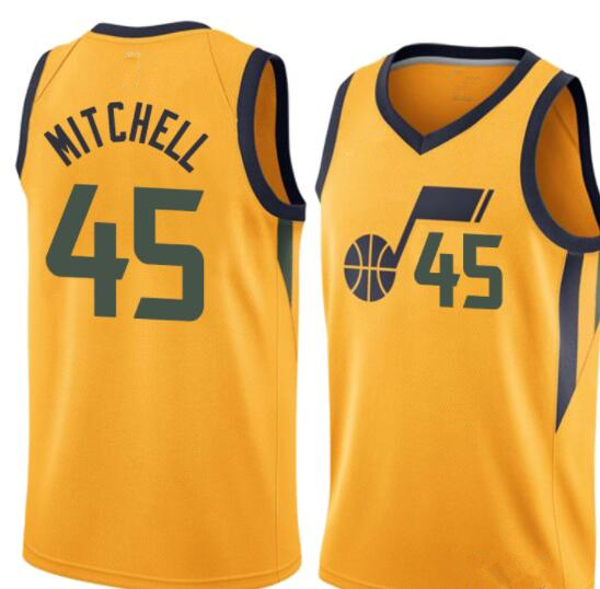46c2dfdbd Men s Utah Jazz Donovan Mitchell Yellow Swingman Jersey - Icon Edition  Basketball Jersey