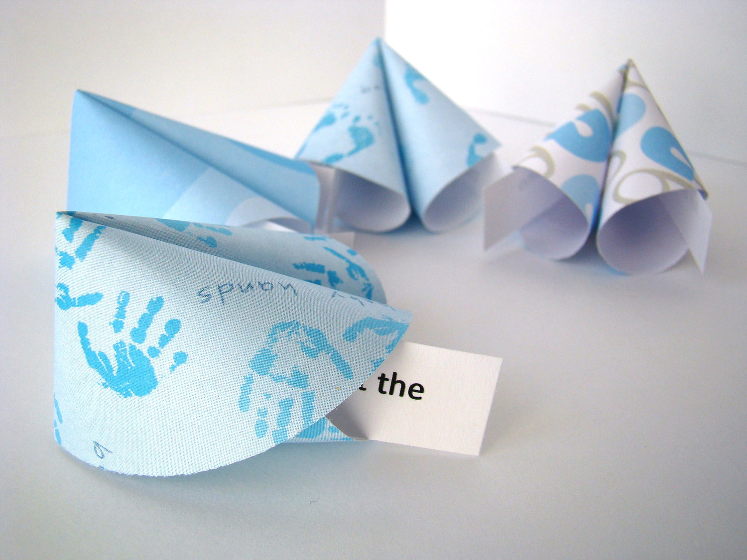 Boy Baby Shower Origami Fortune Cookies - Set of 25 ... - photo#16