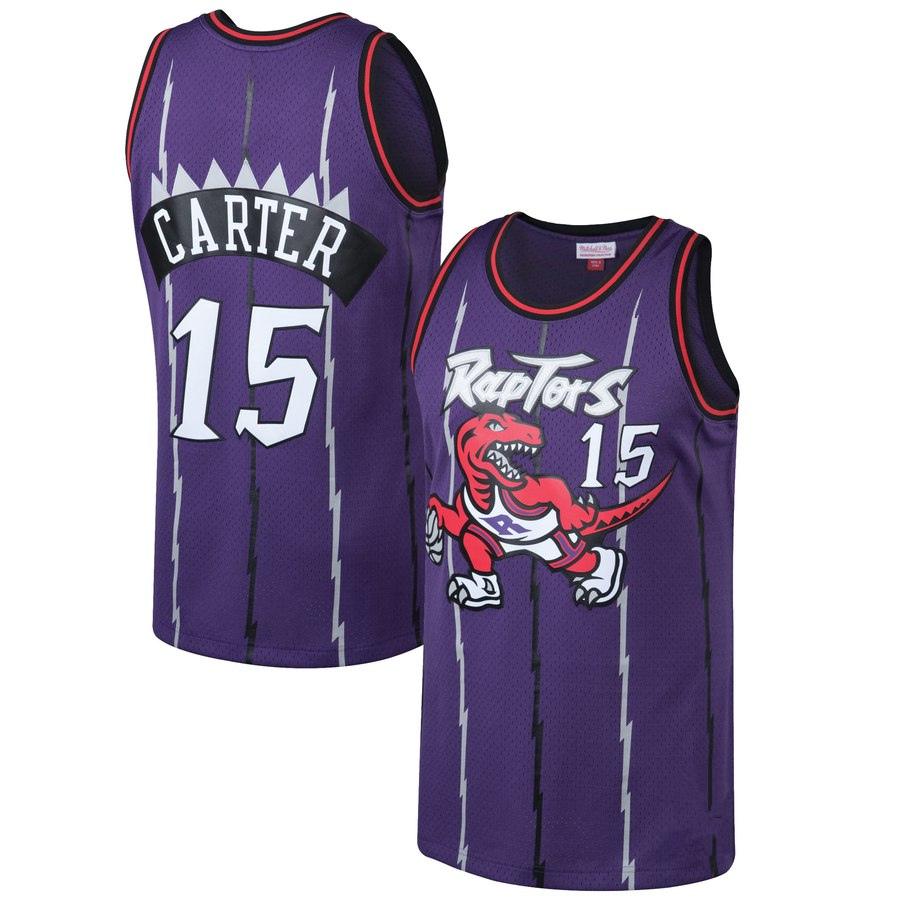 ff98a031671 Men s Toronto Raptors Vince Carter Mitchell   Ness Purple Big   Tall  Hardwood Classics Jerseys Basketball