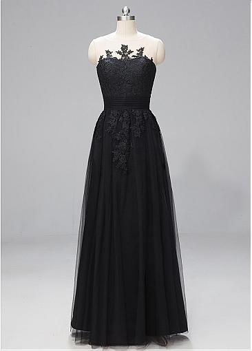 Elegant Black Strapless Ball Gown Wedding Dress Prom Formal From Curvy Brides