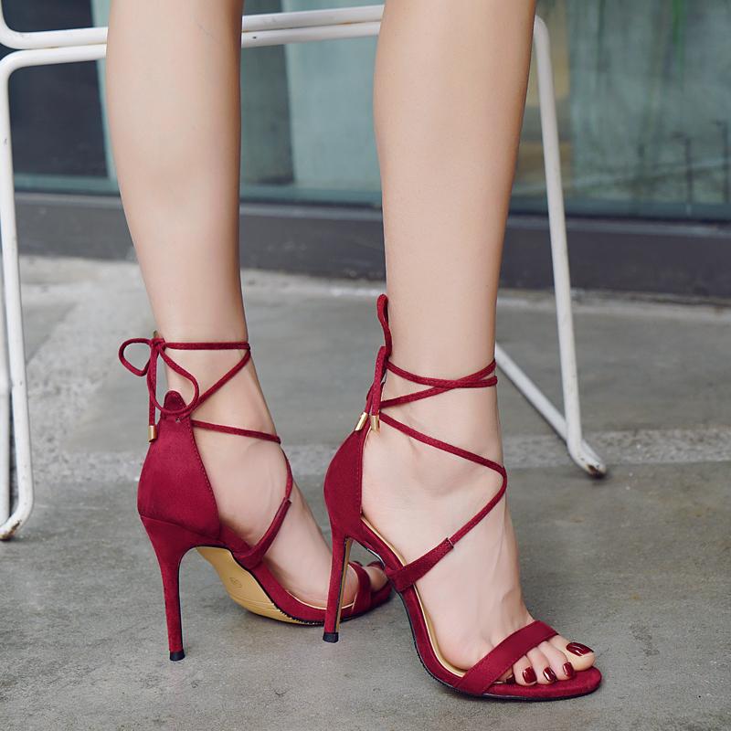 2019 New Female High-Heeled Shoes
