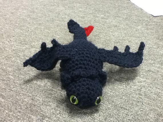 How To Train Your Dragon Toothless Nightfury Crochet Amigurumi
