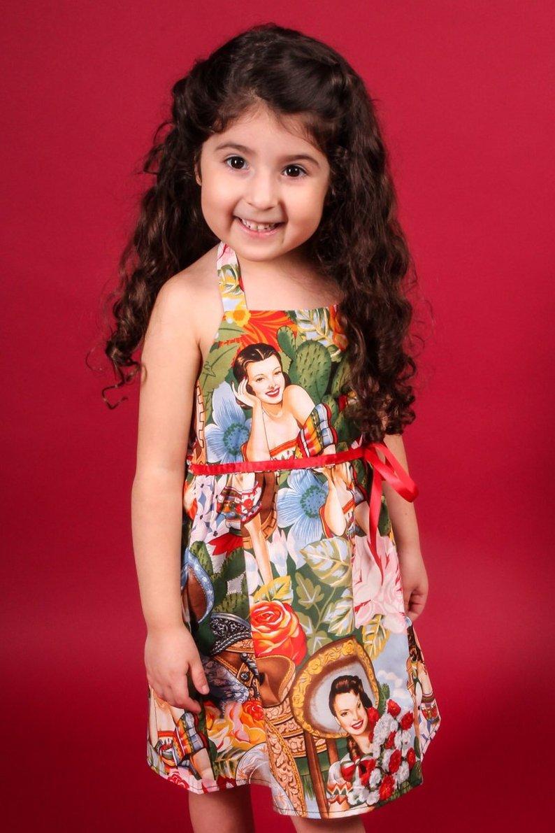 b4853ef3e02 Girls Rockabilly Senorita Dress- 2T