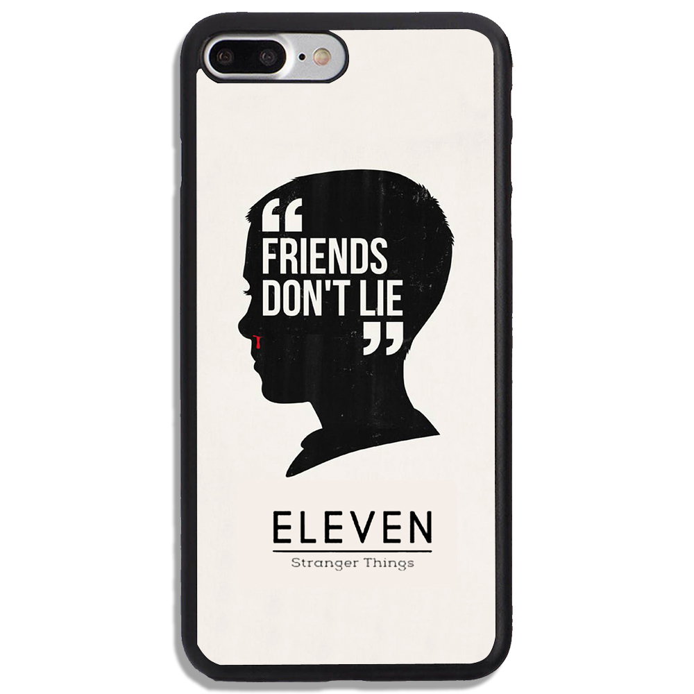 new concept 0e766 590e5 Friends Don't Lie Eleven Stranger Things Print On Hard Cover Phone Case  Protetor For iPhone And Samsung