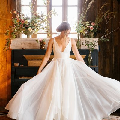4b0c8dd9c2c Deep v-neckline sleeveless chiffon simple beach wedding dresses