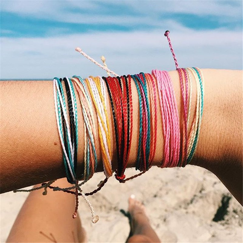 Colors Whale Tail Waxed String Bracelet Choose from over 40
