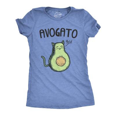 aad39bb635cd7 ... Womens avogato funny t shirt avocado cat cute cat face novelty tee