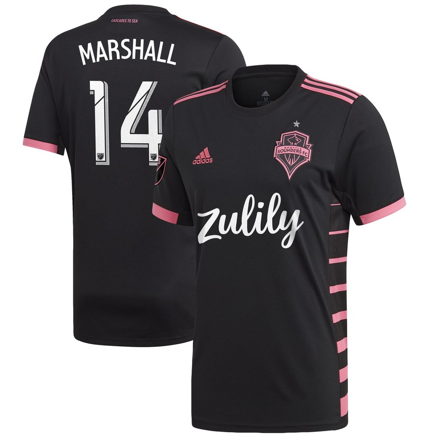 finest selection fedbf f5bfd Marshall #14 Seattle Sounders 2019 Away Jersey Men's Stadium Soccer Kit