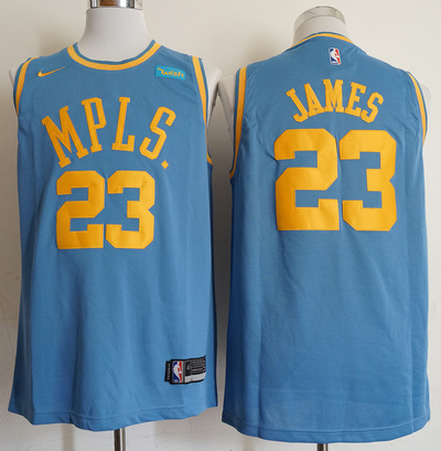 lowest price 269da 4a9f5 Lebron James #23 Minneapolis Lakers MPLS Original Blue Jersey Tank Top from  FoxySports