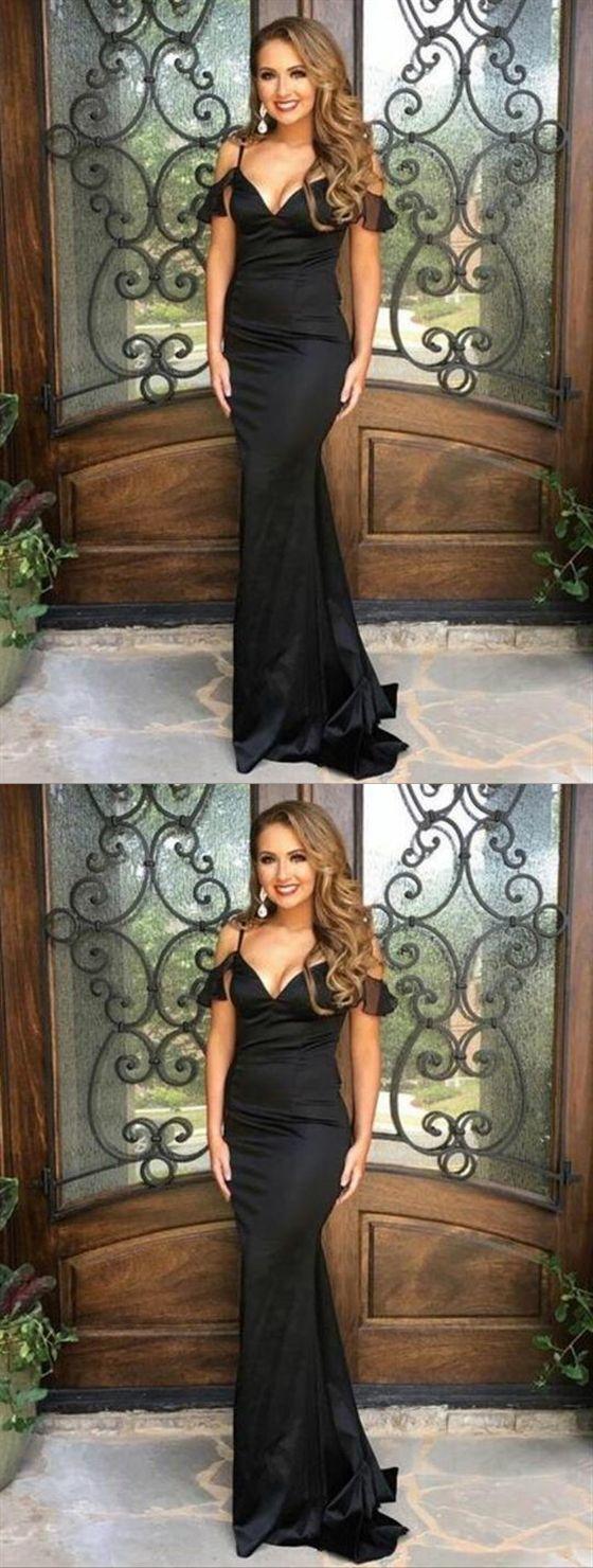 01599b7eb0dc Black Mermaid Off Shoulder Prom Dresses,Spaghetti Strap Military Ball  Dresses