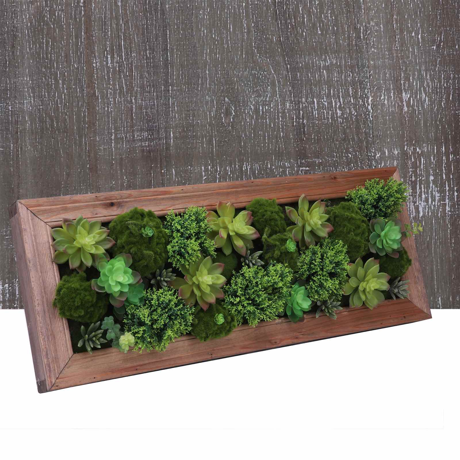 Free Shipping Artificial Succulent Arrangement Succulent Wall Art Wall Decor Wooden Frame Not Plastic Pp Pvc 11 8 19 6 Sold By Preservedfresh Flower On Storenvy