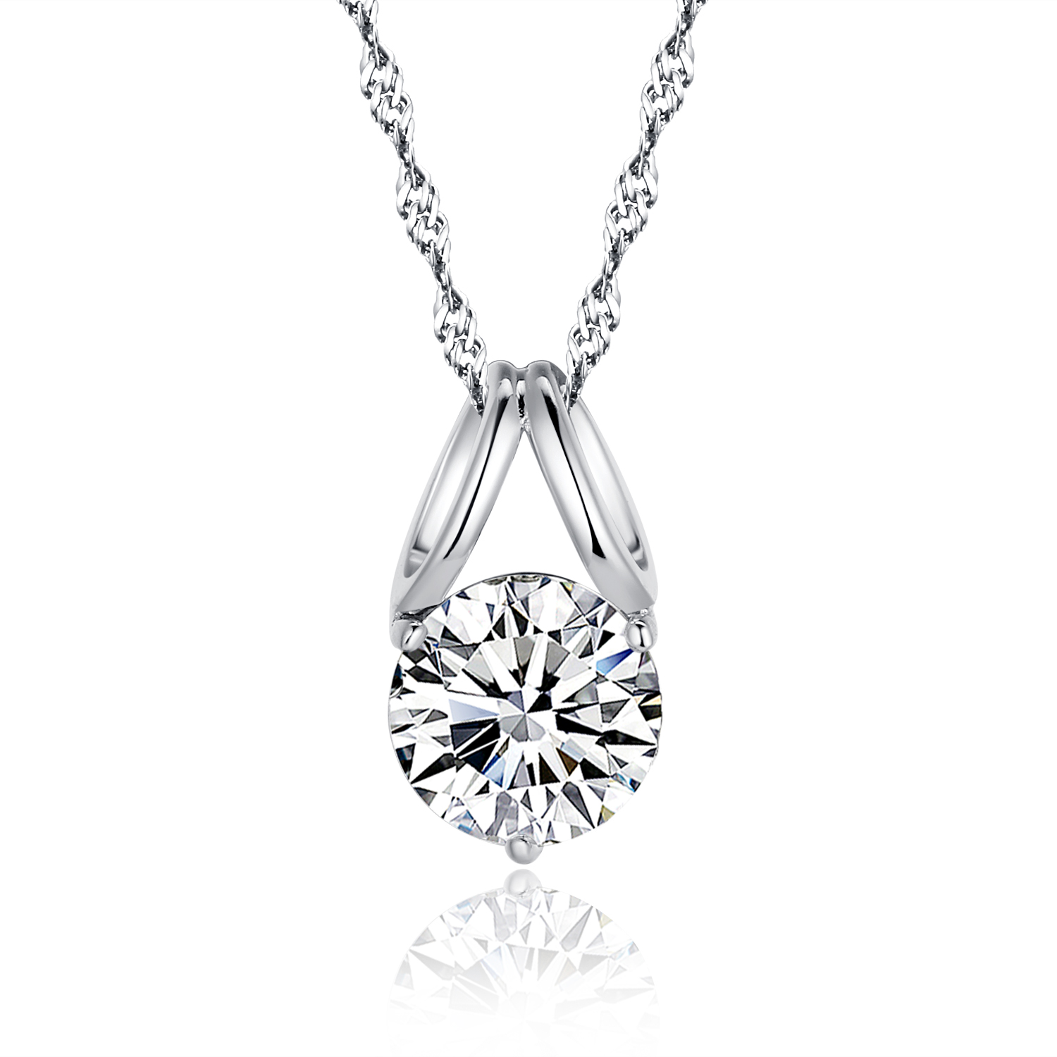 necklace icing us pendant solitaire zirconia cubic twisted
