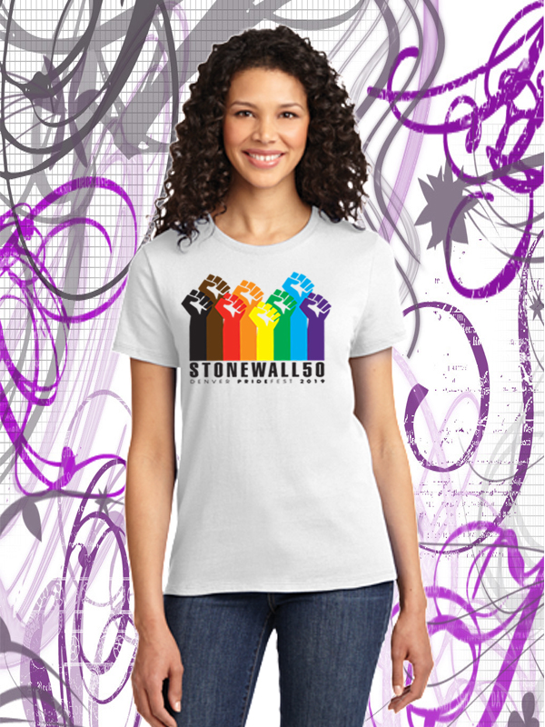 Denver Pride Official 2019 White T-shirt from We the People Clothing