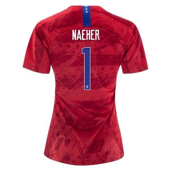 91c594062 Alyssa Naeher  1 USWNT 2019 Red Away Jersey Women s National Team ...