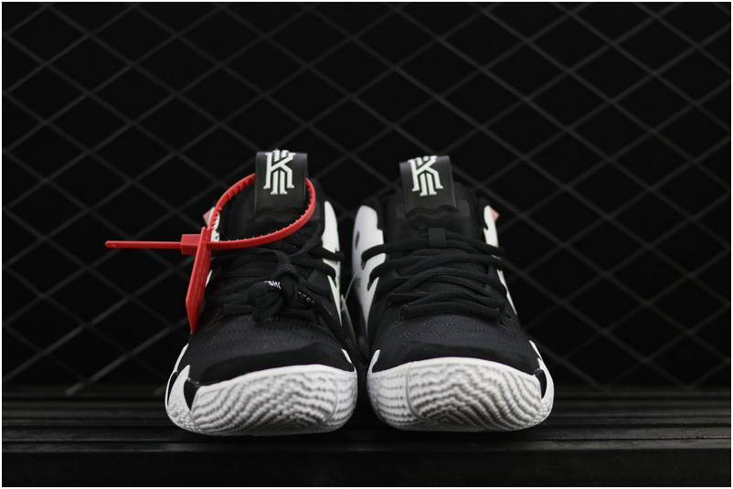 promo code ba879 defbf The Lastest Footwear OFF WHITE x Nike Kyrie 4 Black White Basketball Shoe  Factory Outlet from BELLDRESS