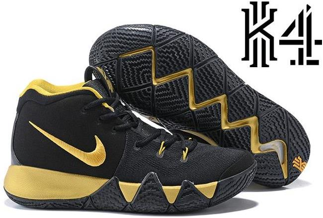 timeless design 4743c 17c9e 2018 Nike Kyrie 4 Black Gold Basketball Shoes from BELLDRESS