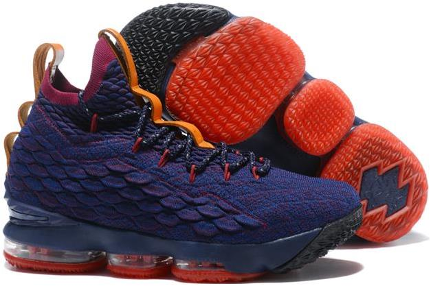 """best service 9f71d d31be Nike LeBron 15 """"Cavs"""" Navy Blue and Wine Red-Orange For Sale from BELLDRESS"""
