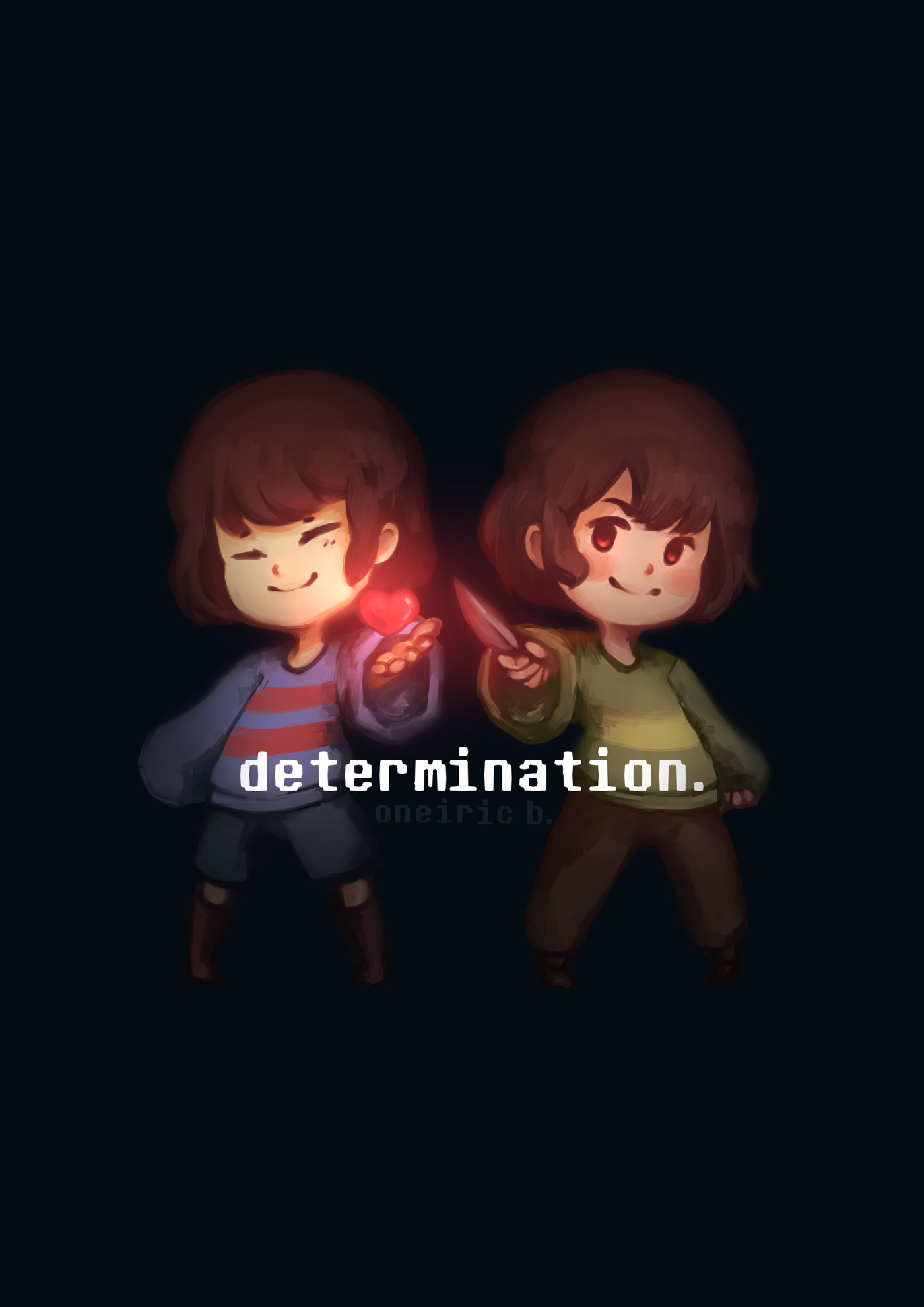 Undertale: Determination (A5 Print) from OneiricBlue