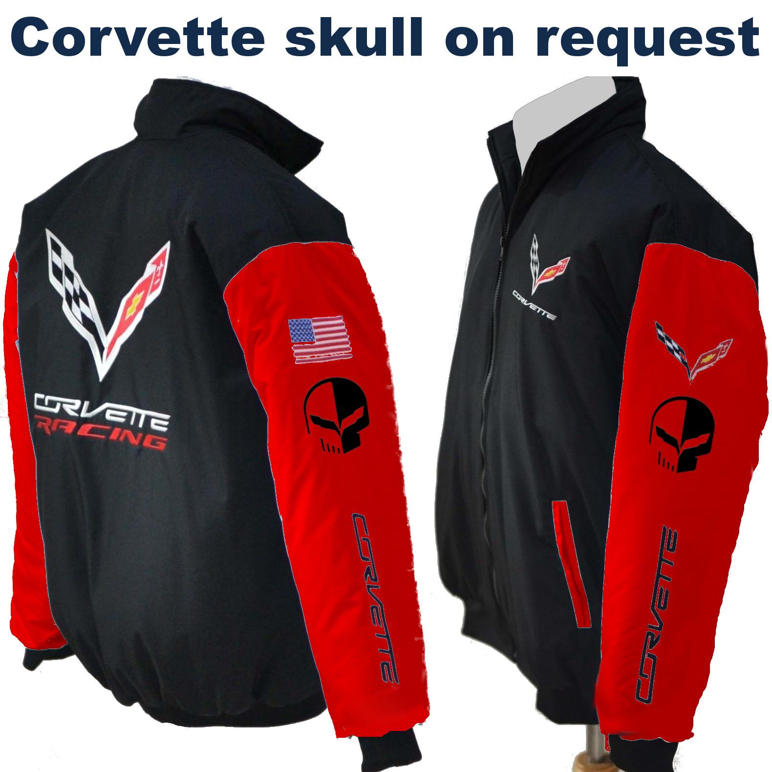 size 40 48260 f8158 CORVETTE-C7-(Skull)-RACING - Jacke // CORVETTE-C7-RACING - Jacket //  black-red from Pro Fashion