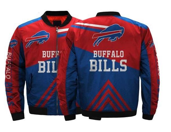 low priced f7752 3db12 Buffalo Bills NFL Team Men Bomber Jackets Coats