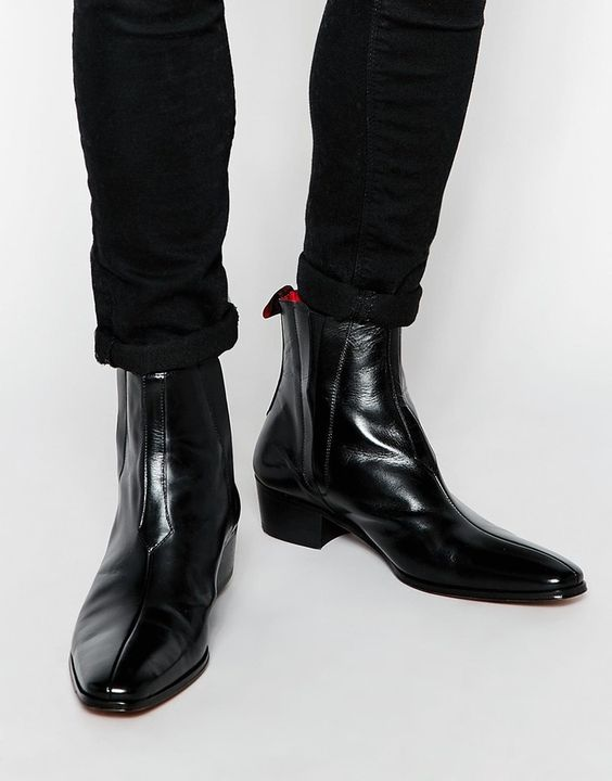 high ankle chelsea boots