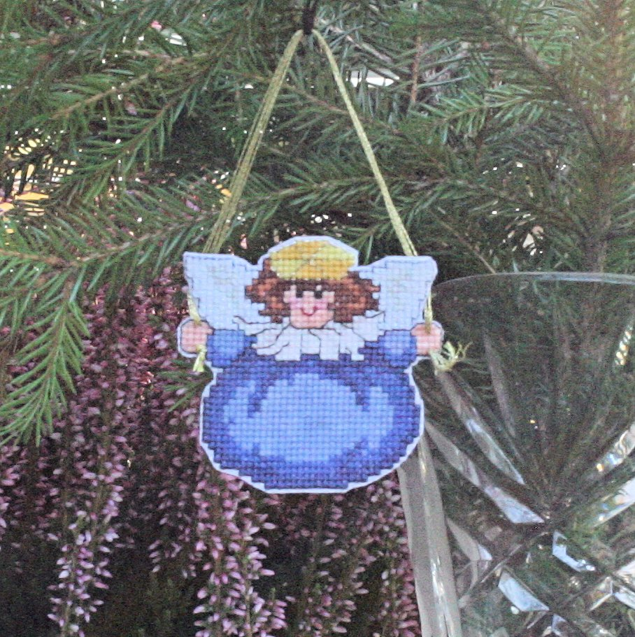 Blue Chubby Angel Cutout from My Needle's Song