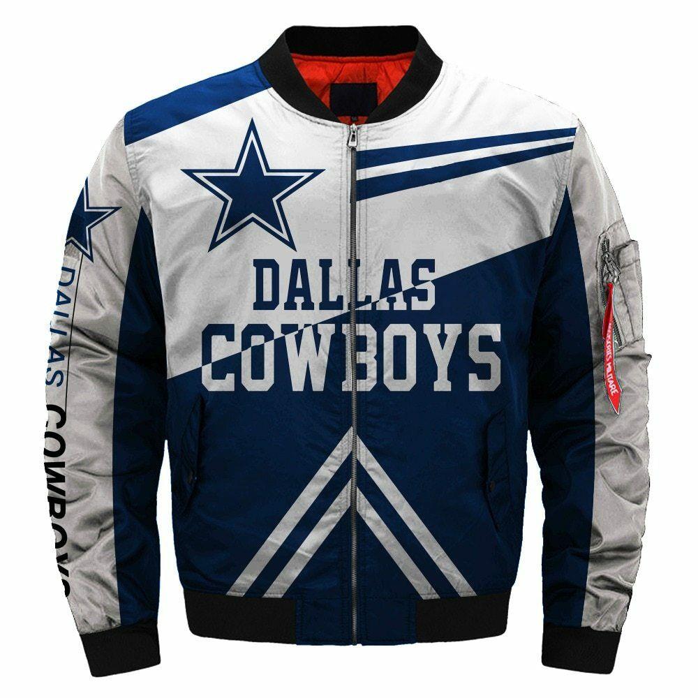 on sale 01252 cf177 2019 Dallas Cowboys NFL Team Men Bomber Jackets Coats