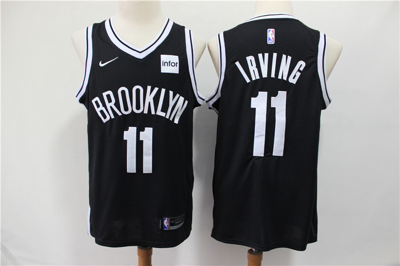cheap for discount 04918 6518b Kyrie Irving #11 Brooklyn Nets Black Basketball Men Jersey S-2XL