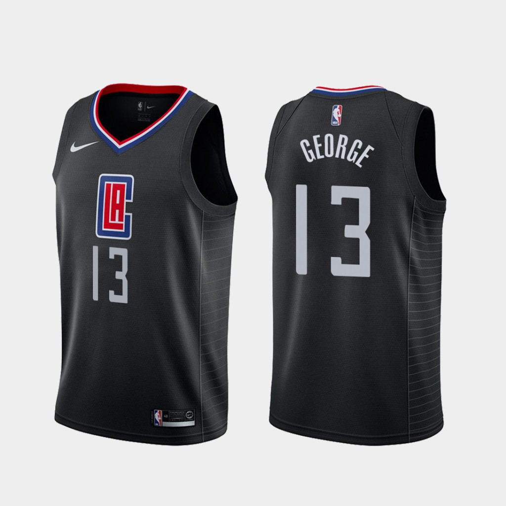 classic fit f4c18 f5422 Men's Los Angeles Clippers #13 Paul George 2019-20 Statement Basketball  Jersey Black S-2XL