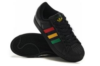 quality design 2f91b 96c5b mens adidas superstar athletic shoe black rasta