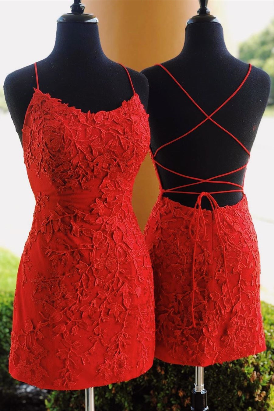 Straps Tight Short Red Lace Homecoming Dresses 2019 Short Homecoming Dresses Sold By Sexypromdress