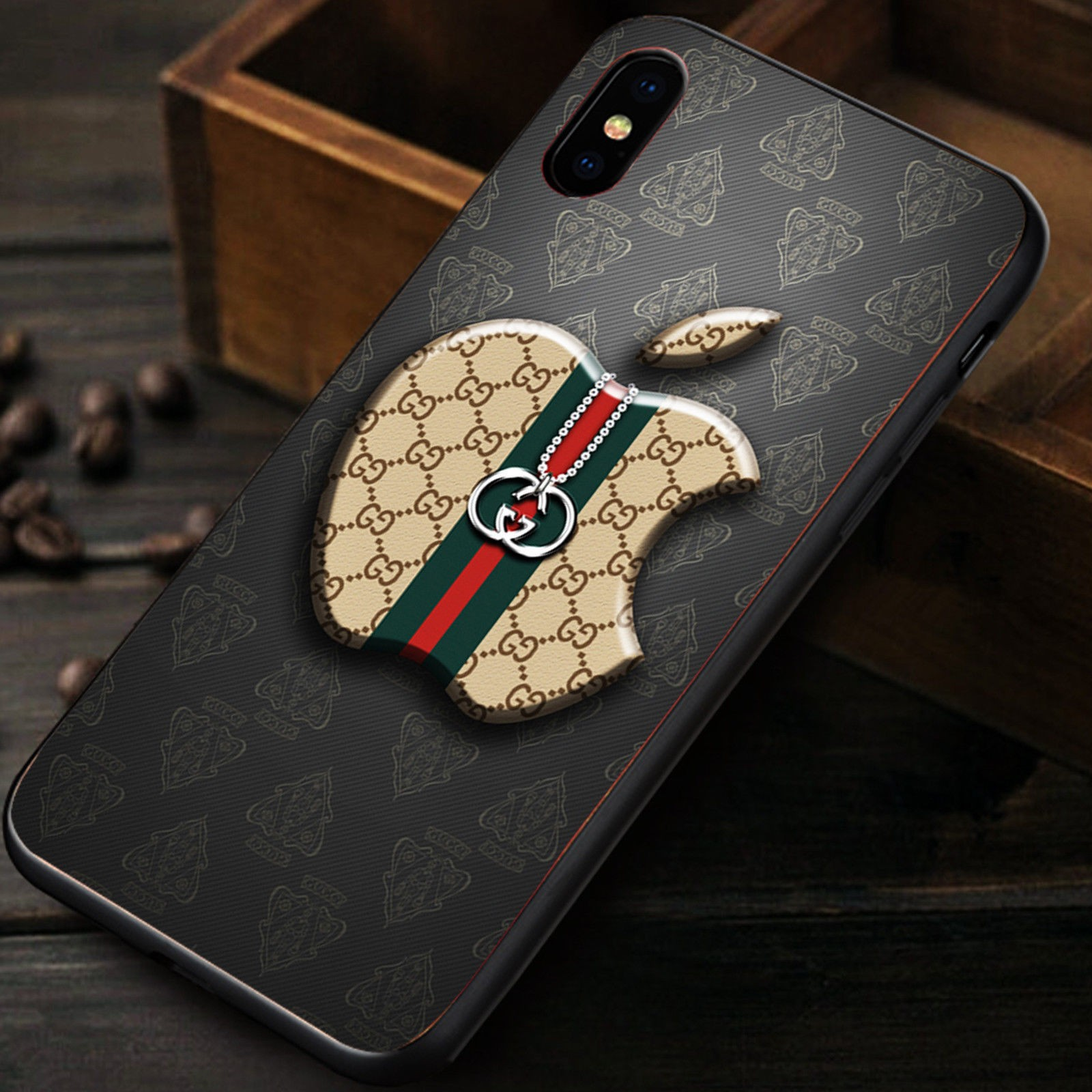 nuovo di zecca 65134 ad4dc Hot Gucci Apple Logo Cover Cases for iPhone 6 6s 6 Plus 6s Plus 7 7 Plus 8  8 Plus X XR XS Max Cover Case sold by BeryCases