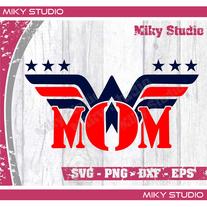 Wonder Mom svg png files 2020, Wonder Woman Mom Svg, Mom Shirt Svg, Independence day svg, July fourth svg, Fourth of july svg, Mom svg