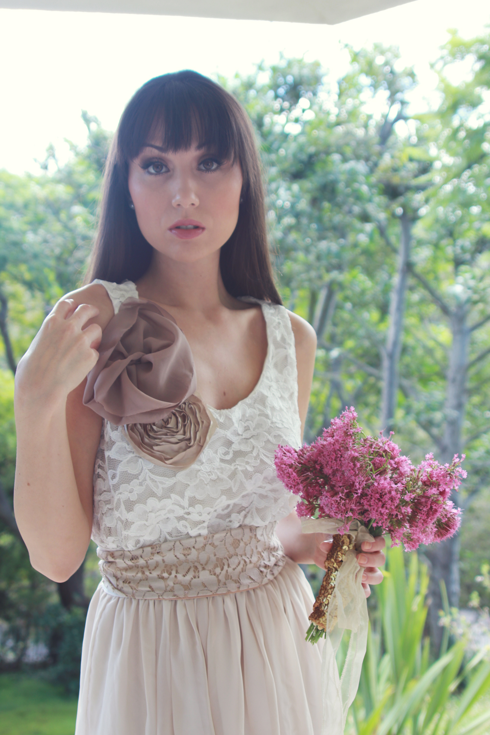 Taupe and ivory country chic bridesmaid dress on storenvy a31original ombrellifo Image collections