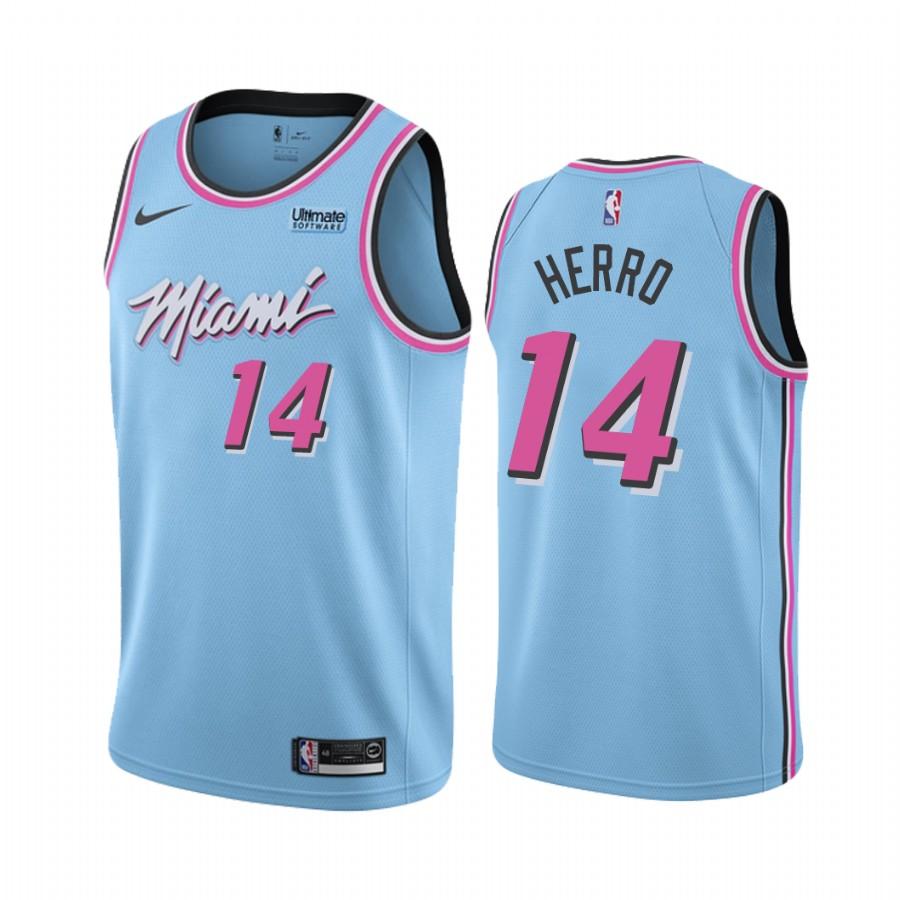Men S Miami Heat 14 Tyler Herro 2019 20 City Edition Blue Jersey Sold By Jeryou On Storenvy