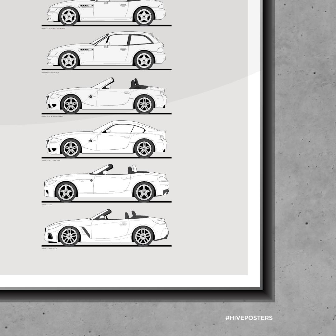 2011 Red BMW Z4 CARS1262 Art Print Poster A4 A3 A2 A1