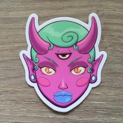 Oni Girl Vinyl Sticker