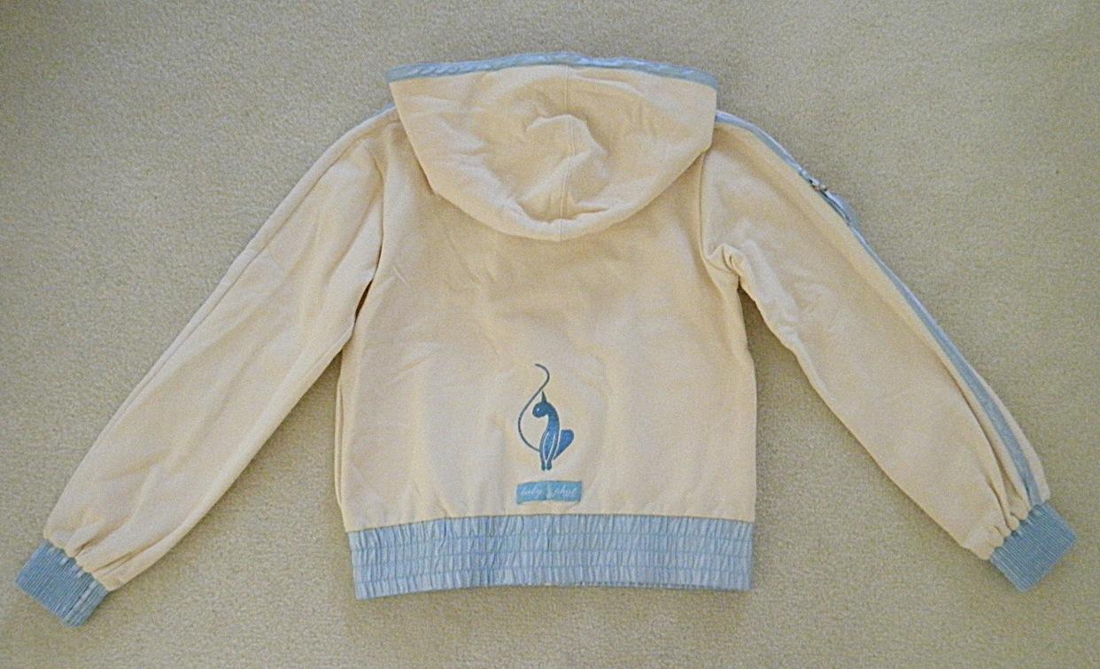858b2a9dc Girls Baby Phat Cream Light Blue Jacket on Storenvy