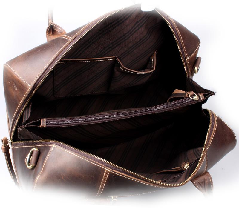 9d9fe18564 ... Handmade Vintage Leather Duffle Bag