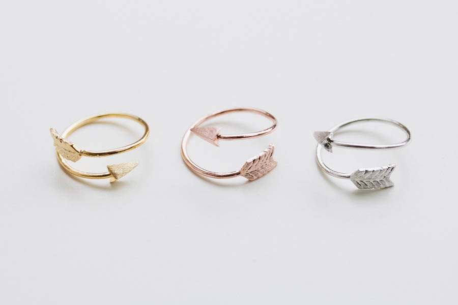 Thick Arrow Ring Unique Ring Adjustable Ring Knuckle Ring Stretch