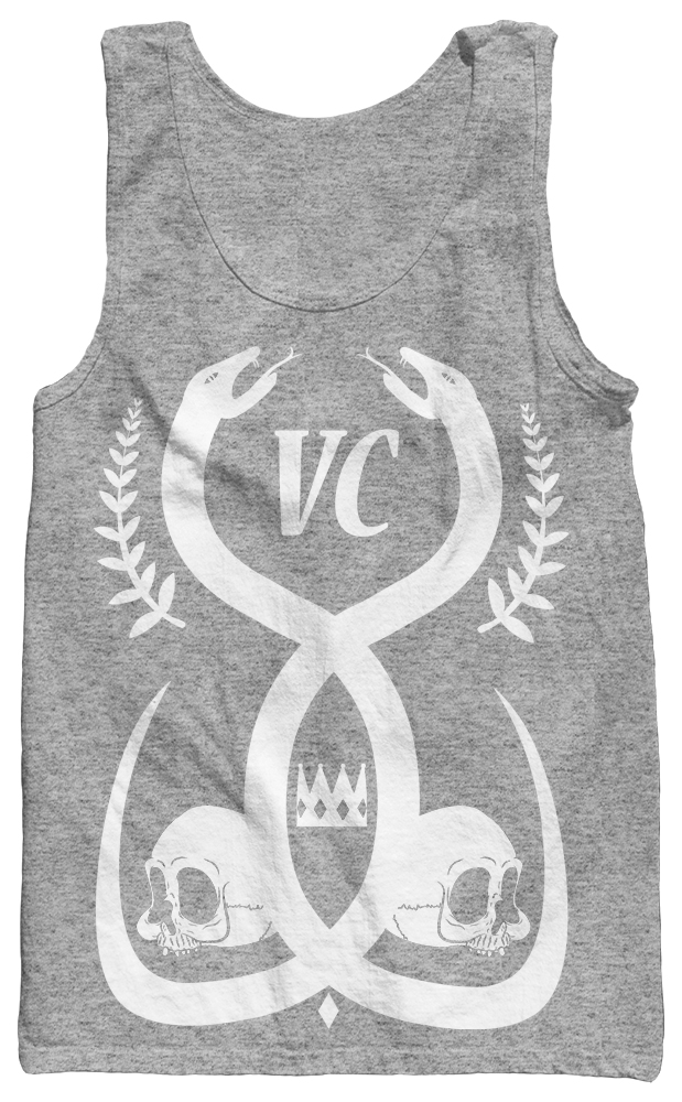 SALE - King Snake Grey Tank sold by Venerate Clothing