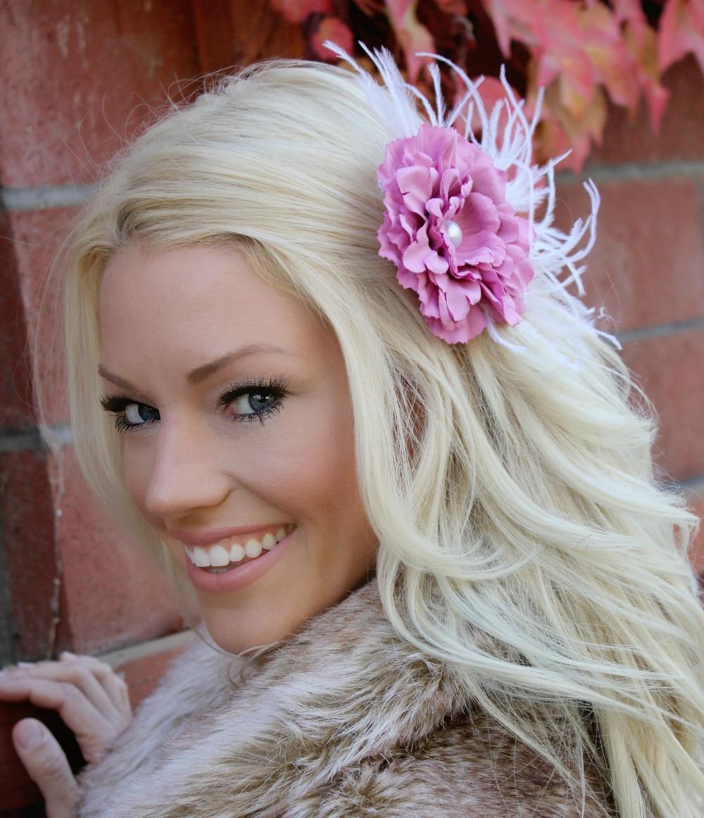 Beautiful Pink Flower Fascinator Hair Clip On Storenvy